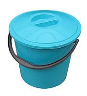 """Ведро пластиковое пищевое 12 литров с крышкой """"ПолимерАгро"""""""
