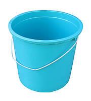 """Ведро пластиковое 17 литров цветное с металлической ручкой """"ПолимерАгро"""""""