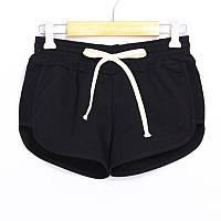 Женские спортивные шорты натуральный хлопок черный