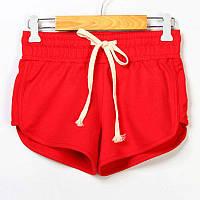 Женские спортивные шорты летние красный