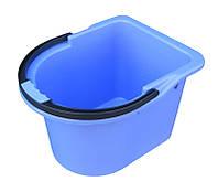 """Ведро пластиковое для уборки (под швабру) 12 литров """"Горизонт"""" + Видеообзор, фото 1"""