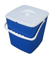 Ведро полипропиленовое для мусора 12 литров с квадратной крышкой (Горизонт, Харьков)