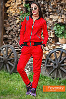 """Женский стильный спортивный костюм """"Роксана"""" из эко-замши в разных цветах"""