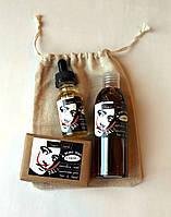 Подарочный набор для мужчин по уходу за бородой / для стимуляции роста бороды / мягкие волосы / масло мыло