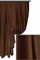 Ткань блекаут однотонный коричневый Турция