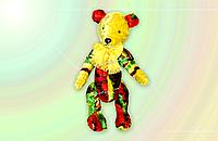 Handmade - Плюшевый мишка ручной работы, выполнен из цветного плюша для детских игрушек, Rainbow