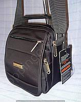 Мужская сумка Gorangd 305 серая из полиэстера ремень через плечо два отдела противоударная 17 x 20x 12см
