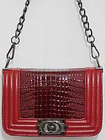 Клатч Шанель спелая вишня ручка-цепочка, фото 1