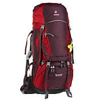 Треккинговый рюкзак для женщин Deuter Aircontact 60+10 SL aubergine/cranberry (3320416 5518)