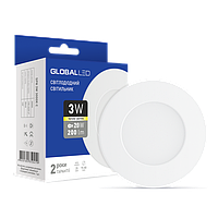 Светодиодная панель (мини) GLOBAL LED SPN 3W мягкий свет (1-SPN-001)