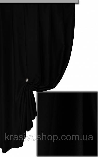Ткань блекаут однотонный черный  Siyeh Турция