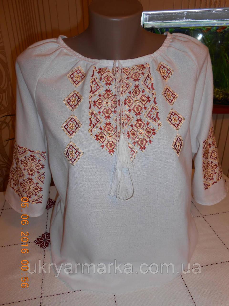 """Жіноча вишивана блузка """"Ромби"""""""
