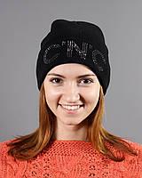 Жнская шапка с большими буквами на резинке