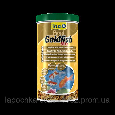 Tetra Pond Goldfish Mix Для золотых рыбок кормовая смесь с хлопьями, палочками и рачками гаммаруса - Лапочка интернет-магазин зоотоваров в Харькове