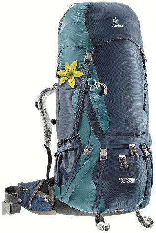 Треккинговый рюкзак для женщин Deuter Aircontact 70+10 SL midnight/denim (3320616 3354)