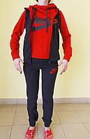 """Женский спортивный костюм """"тройка"""" N (405) черно-красный код 794А"""