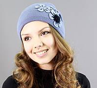 Женственная шапка с модным оформлением, фото 1
