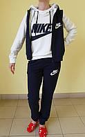 "Женский спортивный костюм ""тройка"" N (400) синий с белым код 796А"