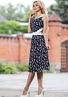 Легкое Модное Платье Темно-Синее с Открытой Спиной S-XL