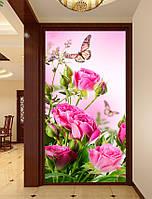 Картина для рисования камнями стразами Diamond painting Алмазная вышивка Розы и бабочки