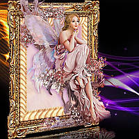 """Набор для вышивания стразами Diamond painting Алмазная вышивка """"Девушка ангел"""", фото 1"""