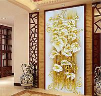"""Картина для рисования камнями Diamond painting Алмазная вышивка """"Золотые лилии"""", фото 1"""