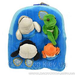 Дитячий рюкзак «Морські тварини»