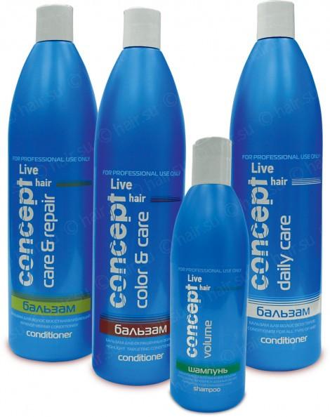 Concept Live Hair профессиональная косметика для ежедневного интенсивного ухода и восстановления
