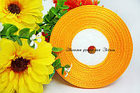 Лента атласная 0.5-0.6см желто-горячая