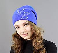 Фиолетовая шапка из акрила