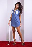 Женское платье-рубашка из тонкого летнего денима Luzana -22228