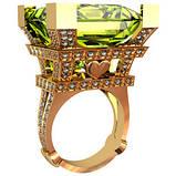 Кольцо  женское серебряное Эйфелева Башня 211240, фото 2