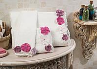 Полотенце махровое банное хлопок/бамбук Peony 90*150.