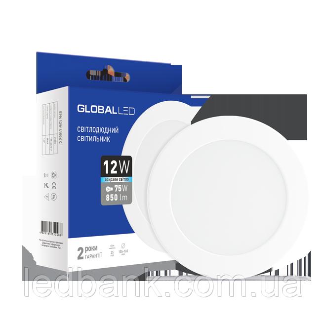 Светодиодная панель (мини) GLOBAL LED SPN 12W яркий свет (1-SPN-008)