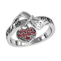 Кольцо серебряное Люблю Тебя с Подвеской Сердце  211440