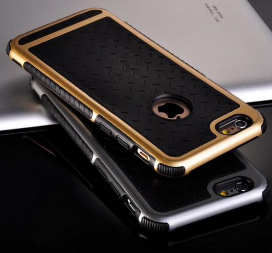 Противоударный чехол для iPhone 5/5S серые ободами