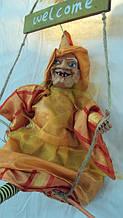 Лялька Баба-яга декоративна довжина 42 см