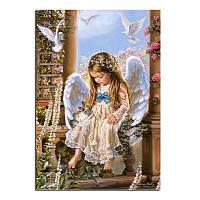 """Алмазная вышивка мозаика """"Девочка ангел"""" полная"""