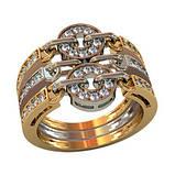 Кольцо  женское серебряное под Bvlgari 211420, фото 2
