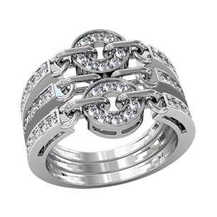 Кольцо  женское серебряное под Bvlgari 211420