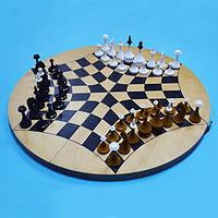 Русские шахматы - шахматы на троих (доска дуб)