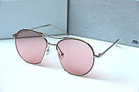 Очки женские от солнца Linda Farrow Monic розовые, магазин очков