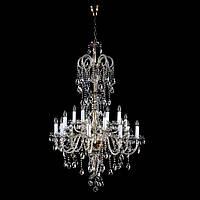 Хрустальная люстра потолочная THEODORA XVI. Dark patina