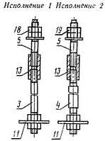 Болты фундаментные составные М24-М48 (тип 3)