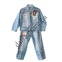 Джинсовый костюм для мальчиков L21206-2 (3-7 лет) оптом со склада в Одессе