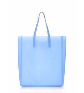 Женская силиконовая сумка Poolparty City голубая