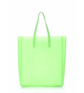 Женская силиконовая сумка Poolparty City салатовая