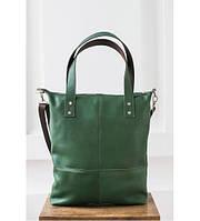 Сумка шоппер «Все с собой» краст зеленая