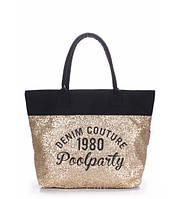 Женская сумка Poolparty Paradise золотистая