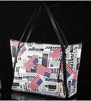 Женская кожаная сумка America белая